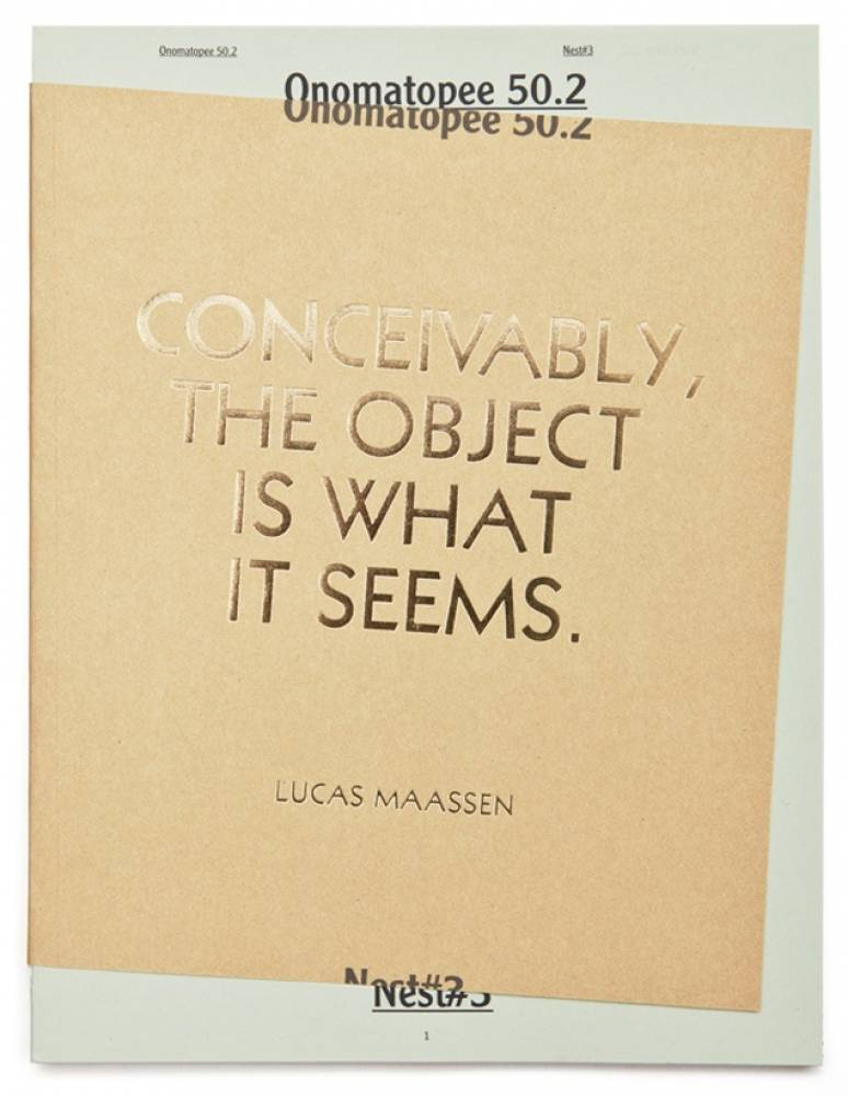 Conceivably, The Object Is What It Seems (Publication)